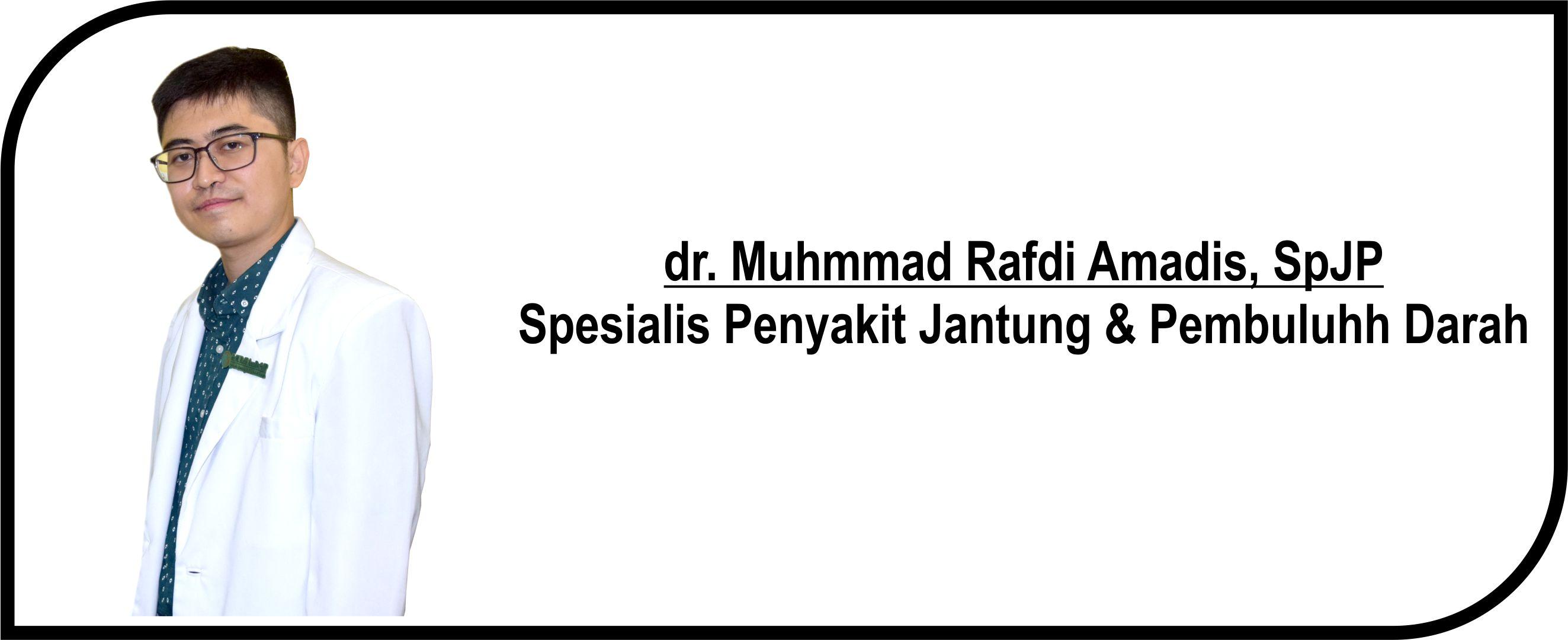 <p>Dokter Spesialis Jantung & Pembuluh Darah</p>  <p>Melayani :</p>  <p>1. Pasien Rawat Inap</p>  <p>2. Pasien Rawat Jalan</p>  <p>Jadwal Praktik Poli :</p>  <p>Senin, Rabu dan Jum'at : 14.00 - 16.00 WIB</p>